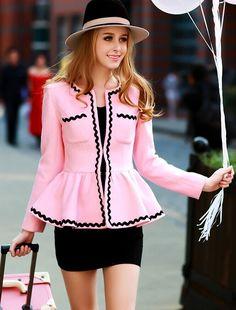 Morpheus Boutique  - Pink Floral Bow Long Sleeve Flare Jacket, CA$92.29 (http://www.morpheusboutique.com/new-arrivals/pink-floral-bow-long-sleeve-flare-jacket/)