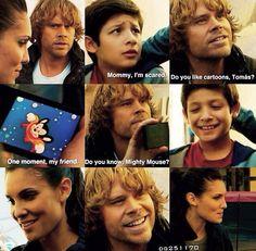 NCIS the way Kensi looks at deeks in this episode is so cute. Deeks is great with kids
