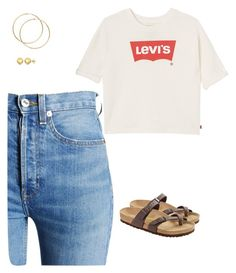 """""""levy"""" by arp001580 on Polyvore featuring RE/DONE, Levi's, Birkenstock and Sevil Designs"""