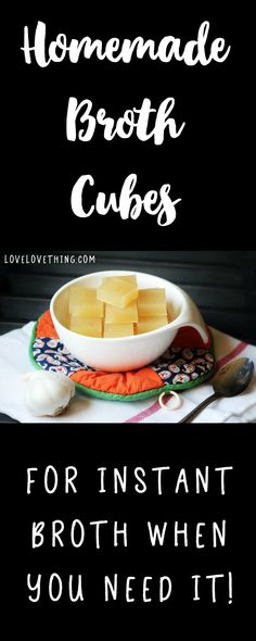 Homemade Instant Broth Cubes - a healthy way to keep broth on hand!