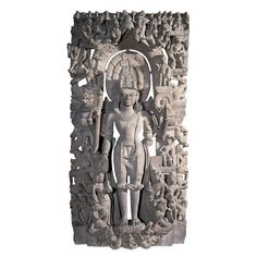Sandstone stele with a figure of Vishnu  From central India, 10th century AD