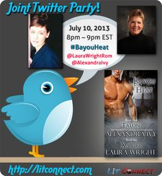 @alexandraivy and @laurawrightrom have done it again, another book, another twitter party, that makes for an amazing night!