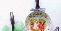 Todo tipo de trabajos de manualidades  hechos con cariño. Vintage Kitchen, Holiday Crafts, Decorative Plates, Fun, Decoupage, Craft, Creative Crafts, Frying Pans, Recycled Bottles