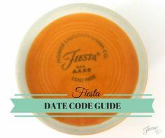 Fiesta Dinnerware Date Code Guide