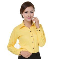 95161dc564 Blouses Shirts 2017 Office Lady Work Wear Plus Size Long Sleeve Cotton  Basic Shirts Formal Women Blouses Tops Blusas Femininas
