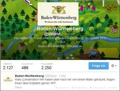 """Landesmarketing Baden-Württemberg twitterte vorhin: """"Hallo @malerdeck! Wir haben zwar noch nie von einem Maler geträumt, folgen Ihnen aber trotzdem gerne! #FF"""" Finde ich doch äußerst nett! :-)"""