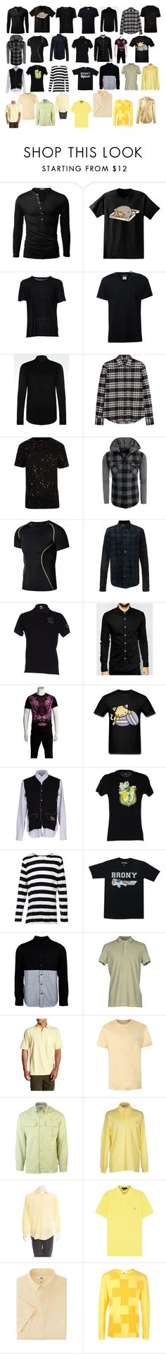 """""""Men's shirts #3"""" by asherthecrimsonfox ❤ liked on Polyvore featuring Doublju, Pusheen, T By Alexander Wang, Neil Barrett, Emporio Armani, Dsquared2, River Island, AMIRI, ASOS and Just Cavalli"""