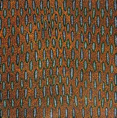 """Aboriginal dot painting by Michelle Lion Kngwarrey: """"Ilyarnayt"""". Learn more. Buy now from Utopia Lane Art."""