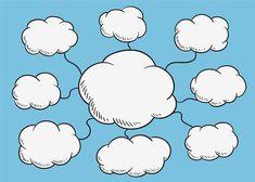 Mind Map Art, Mind Maps, Mind Map Design, Cute Christmas Wallpaper, Image Cloud, Powerpoint Background Design, Cloud Illustration, Cloud Drawing, Poster