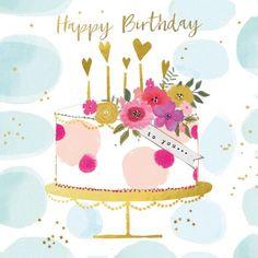 Happy Birthday Niece, Happy Birthday Wishes Photos, Birthday Wishes For Friend, Happy Birthday Flower, Birthday Blessings, Birthday Wishes Quotes, Happy Birthday Messages, Happy Birthday Greetings, Watercolor Birthday Cards