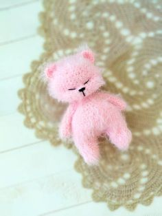 Check out this item in my Etsy shop https://www.etsy.com/listing/601284648/crochet-teddy-bear-photo-prop-mini-bear