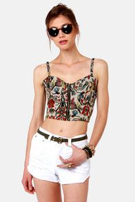 woven floral bustier<3