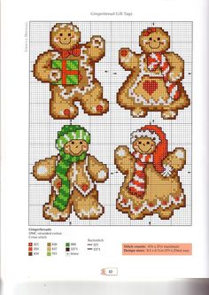 Gingerbread cross stitch