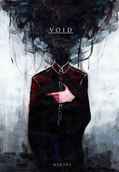 Void by Ajgiel on DeviantArt Fantasy Kunst, Dark Fantasy Art, Dark Art, Character Concept, Character Art, Concept Art, Arte Horror, Horror Art, Anime