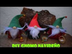 DIY Gnomo Navideño - YouTube Christmas Crafts, Christmas Ornaments, Diy, Holiday Decor, Youtube, Paper, Cardboard Tubes, Craft Videos, Upcycle