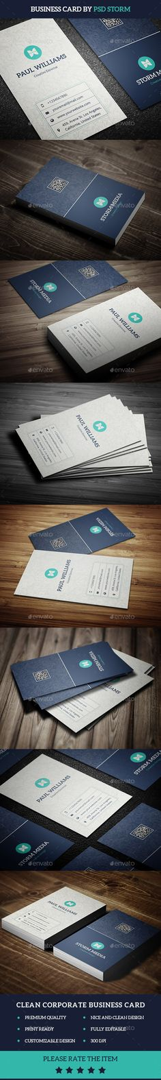 Clean Corporate Business Card - Corporate Business Cards Download here : http://graphicriver.net/item/-clean-corporate-business-card/12007503?s_rank=1776&ref=Al-fatih