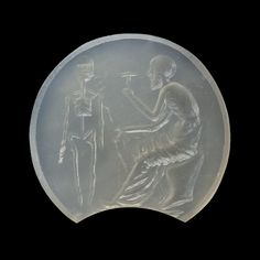 Prometheus creating the first man. Graeco-Roman ringstone, 30 BC-200 Chalcedony. 1,3 x 1,2 cm Inventory number: I85