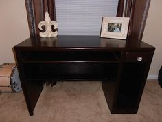 Refinishing a desk without priming or sanding!  So easy and it only cost about 25 dollars to redo!    #gelstain