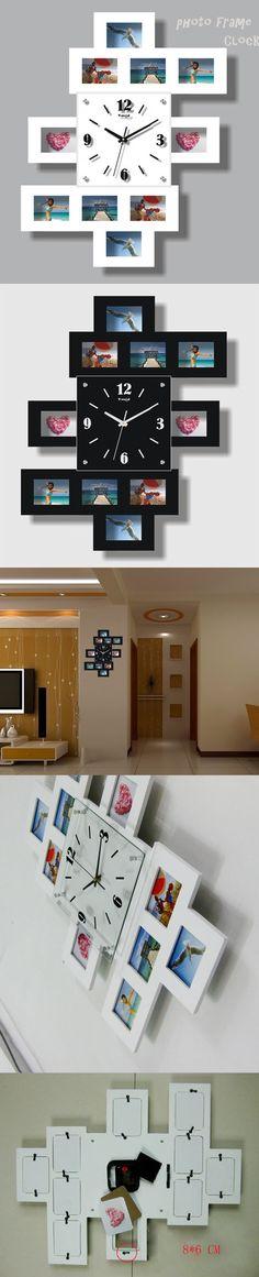 fashion creative photo frame clock