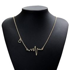 Pendant Heartbeat Electrocardiogram Women Jewelry Necklace Necklaces Pulse Charm Buy Now Price: USD Pendant Heartbeat Electrocardiogram Women Jewelry Necklace Necklaces Pulse Charm Love Necklace, Necklace Types, Silver Necklaces, Jewelry Necklaces, Jewlery, Jewelry Accessories, Women Jewelry, Minimalist Necklace, Heartbeat