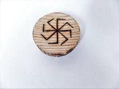 Viking pagan wooden fridge magnet