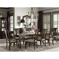 47674278 by Bassett Furniture in Poplar Bluff, MO - Cosmopolitan Rectangular Dining Table