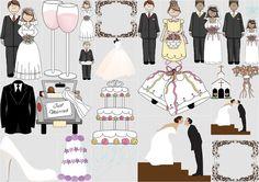 Clipart сватбени карикатури.