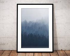 Poster print moody fog | Etsy