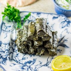Easy recipe for Meat & Rice Stuffed Grape Leaves, a Mediterranean classic. Grape Leaves Recipe, Stuffed Grape Leaves, Cooking Recipes, Healthy Recipes, Healthy Lunches, Greek Cooking, Greek Recipes, Other Recipes, Food For Thought