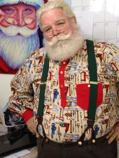"""7/25/2013  This was made for a Toy Drive, I though Santa might wear a """"Tool Shirt"""" while making toys in the Summer.  This was my first shirt pocket."""