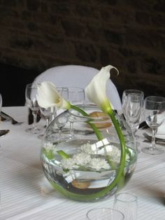 1000 images about vase boule on pinterest vase centre - Vase plat centre de table ...