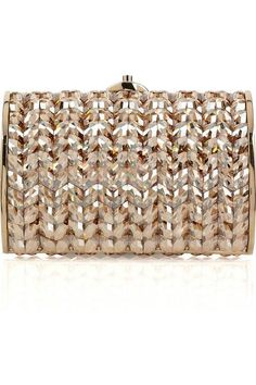 2a2e6935d673 Judith Leiber Crystal and Bead Embellished Oval Clutch Beaded Bags