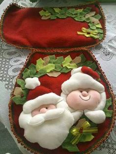 Christmas 2019 : Christmas decorations 2019 - 2020 that you can make with felt - Trend Today : Your source for the latest trends, exclusives & Inspirations Christmas Scenes, Noel Christmas, Diy Christmas Gifts, Christmas Projects, Christmas 2019, Christmas Sewing, Christmas Fabric, Felt Christmas Decorations, Christmas Ornaments
