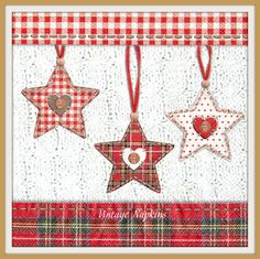 SALE *** TWO Paper napkins for DECOUPAGE-Christmas Scottish Stars C010 by…