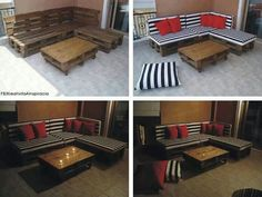 Palette Banquette Palette, Diy Pallet Couch, Pallet Patio, Pallet Bench, Pallet Lounge, Pallet Chairs, Pallet Sectional, Outdoor Pallet, Pallet Seating