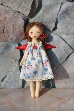 Etsy+の+Textile+doll+Tilda+doll+Tilda+angel+by+NilaDolss