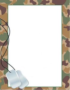 Letterhead used for Military Party Invitation or Games etc.