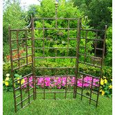 Features:  -Patio Trellis.  -Hardened powder coat.  -Fade, chip and crack resistant.  -Constructed of durable tubular iron.  -Color: Hammer tone bronze and verdi gray.  Material: -Steel. Dimensions: