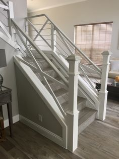 Best Farmhouse Stairway Railing Steel Cable Farmhouse Stairway 640 x 480