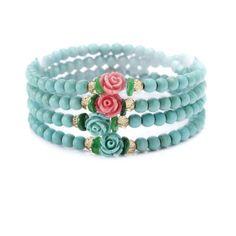 Double Wrap Stretch Turquoise Bracelet