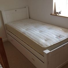 Single Bed White With Pull Out Truckle In White  £350 - handmade - they make for you in your house £80 delivery for everything