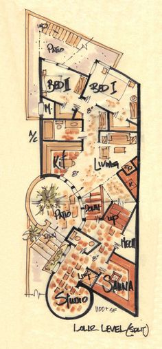 Narrow House Plan Torre III -