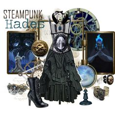 Steampunk: Hades by ghsdrummajor on Polyvore featuring Vivienne Westwood Anglomania, Zelia Horsley, Lanvin and Disney