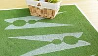 Stenciled Laundry Room Rug