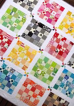 What an excellent way to make a scrap quilt with your smallest scraps! Very cool. by danielle
