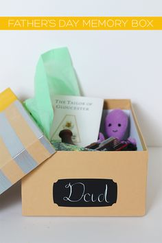 Father's Day Memory Box DIY   Squirrelly Minds