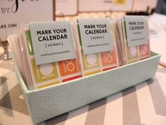Wicked Bride Stationery booth - Mark Your Calendar bridal stickers, show takeaway