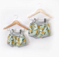 Organic Knit Lemon Shorts sizes 3months-8/9 - 6 months