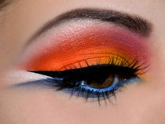 Fire on Antarctic by Johanna, Sugarpill Sponsored Bee Colorful Looks Competition http://www.makeupbee.com/look_Fire-on-Antarctic_27805