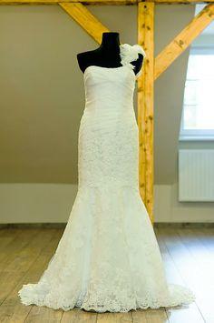 "Wedding dress in ""Mano Suknelė"" One Shoulder Wedding Dress, Wedding Dresses, Fashion, Bride Dresses, Moda, Bridal Gowns, Fashion Styles, Wedding Dressses"